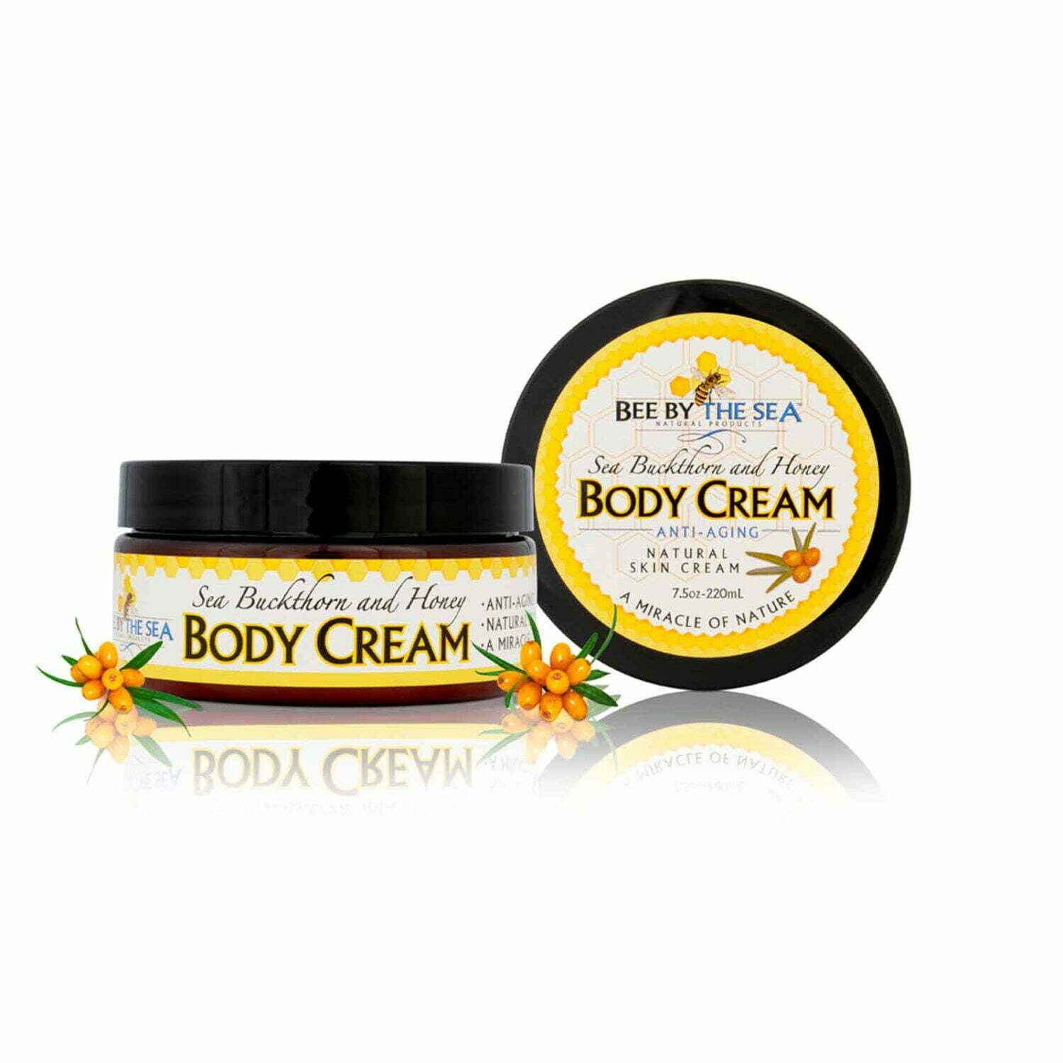 Bee By The Sea Vanilla Body Cream jar